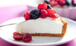 Cheesecake con formaggio senza lattosio